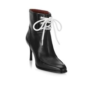 3.1 Phillip Lim Black Agatha Lace Up Leather Boot